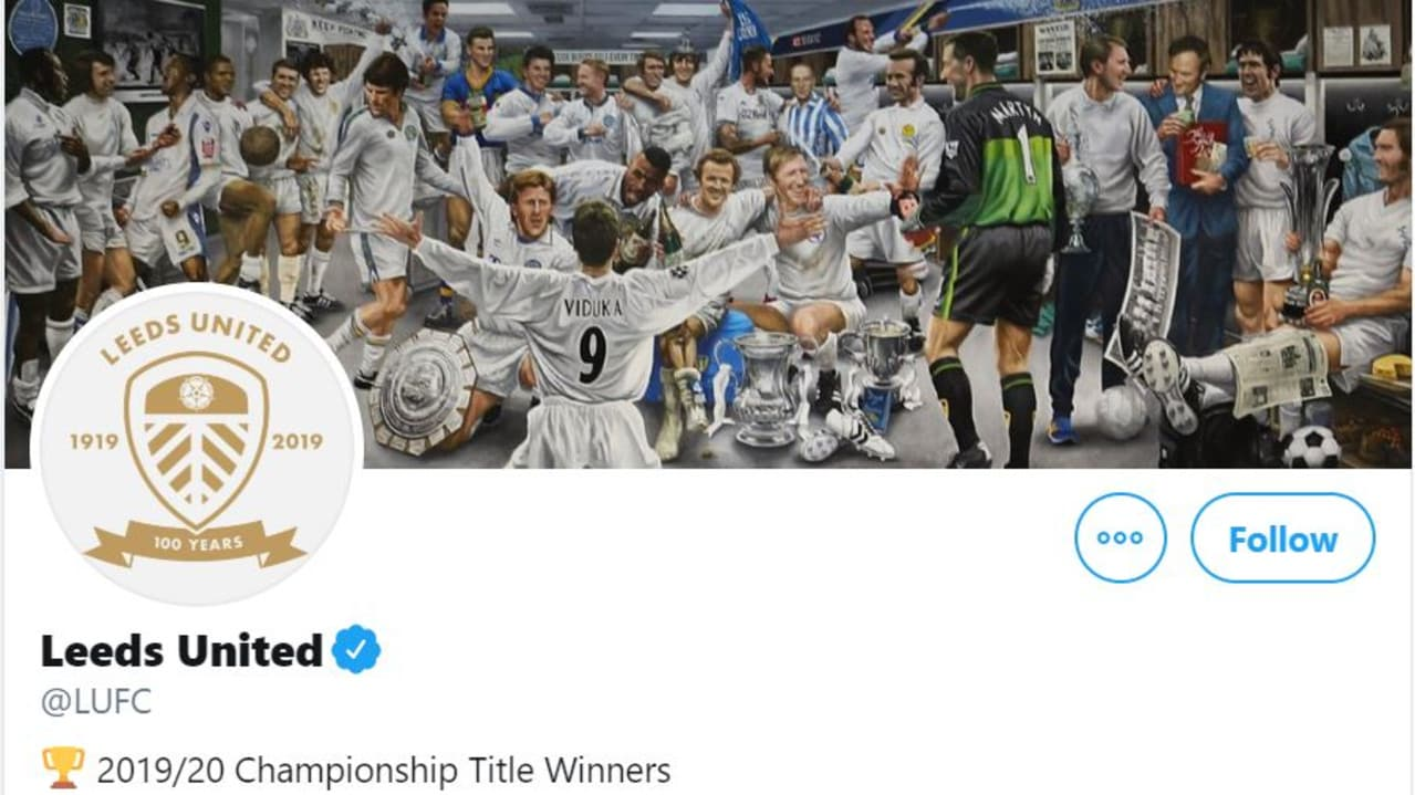 Leeds' Twitter header pays homage to their legends.