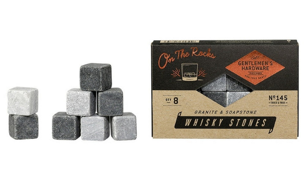WHISKEY STONES - $19.95 (MYER): Anyone who enjoys nice whiskey knows putting your average ice cube in there isn't the best idea. They melt too quick and water down your drink. So you'll be toasted for gifting someone a set of whiskey rocks that will never ruin a drink.