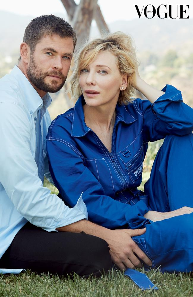 Chris Hemsworth and Cate Blanchett grace the cover of ... кейт бланшетт