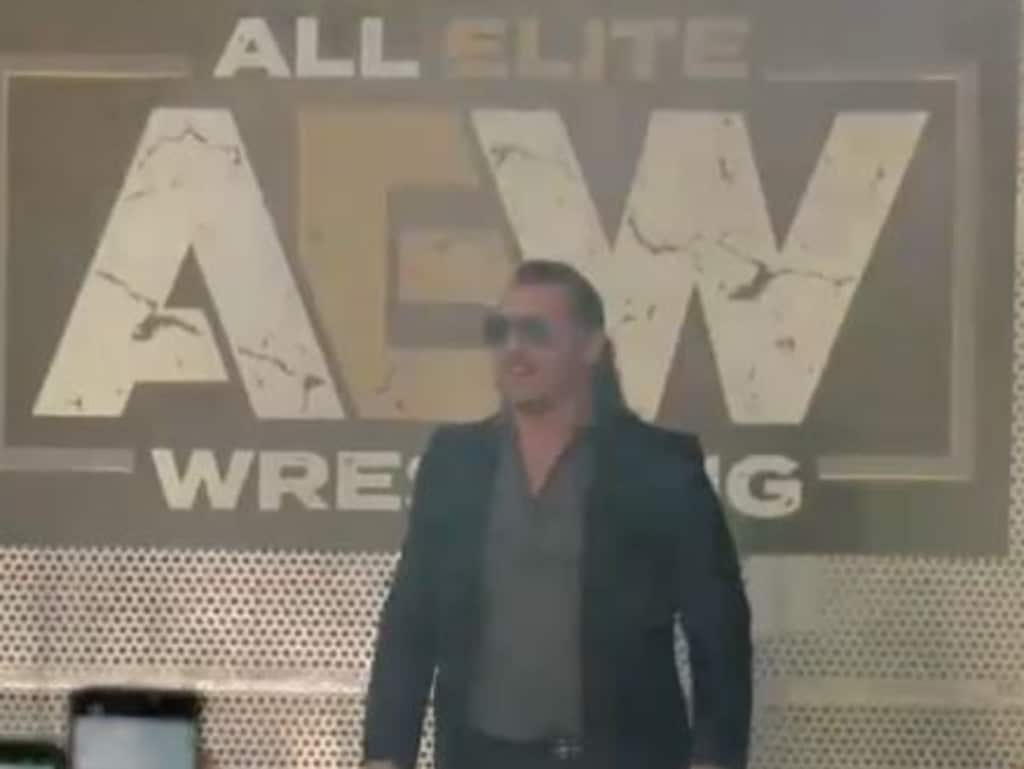 Chris Jericho is unveiled as a member of All Elite Wrestling. Screengrab via YouTube.