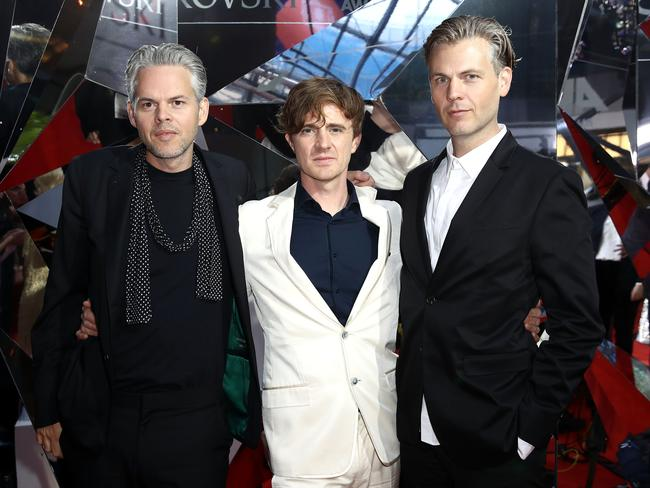 Aussie electronic trio PNAU looking sharp. Picture: Getty