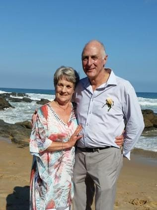 The elderly couple are now happily married and aren't wasting any time at all after meeting on a very fateful trip to Fiji. Picture: Fiji Airways