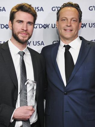 Honoree Liam Hemsworth (L) and Vince Vaughn attend the 2019 G'Day USA Gala at 3LABS on January 26, 2019 in Culver City, California. Picture: John Sciulli/Getty Images