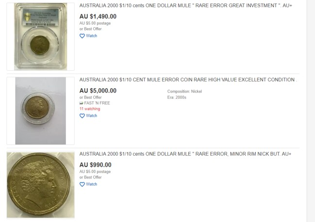 The rare coins are available on eBay.