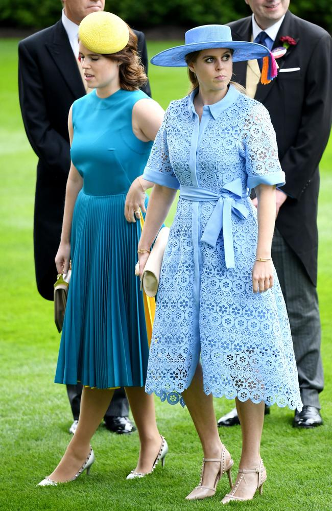 Princess Eugenie and Princess Beatrice. Picture: James Veysey/Shutterstock