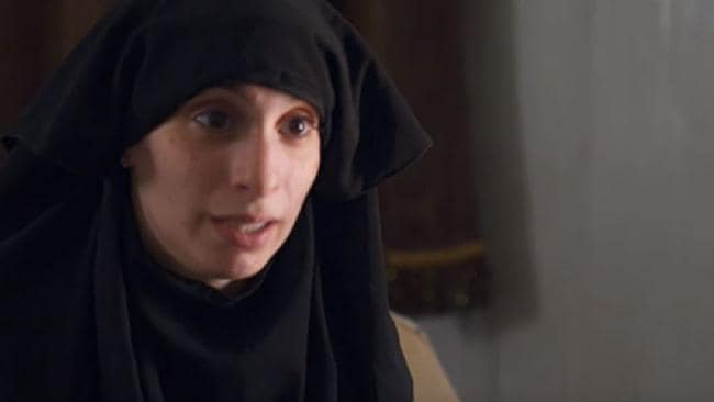 Mariam Dabboussy as she is now after spending years in Syria. She took her face covering off for the ABC interview. Source: ABC/Four Corners