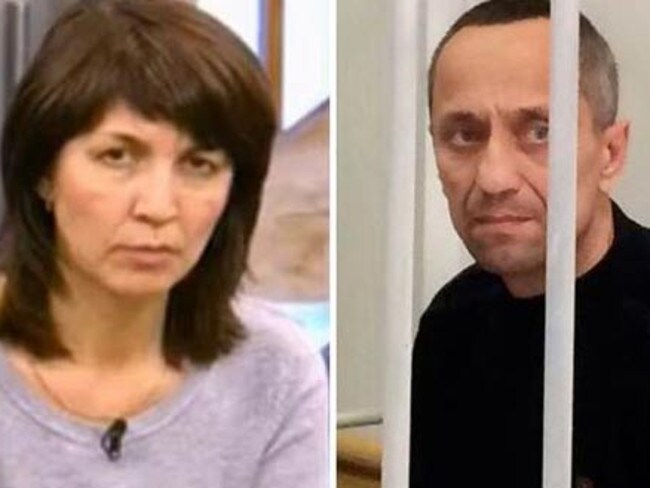Elena Pokov (left) described her serial killer husband Mikhail (right) as the 'perfect husband and father'.