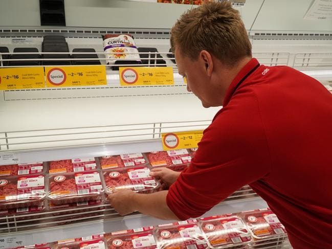 First it was toilet paper, now meat is selling out fast. Picture: Supplied/Coles