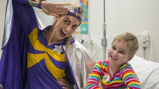 A Starlight Captain and patient Ruby Atkinson. Picture: supplied