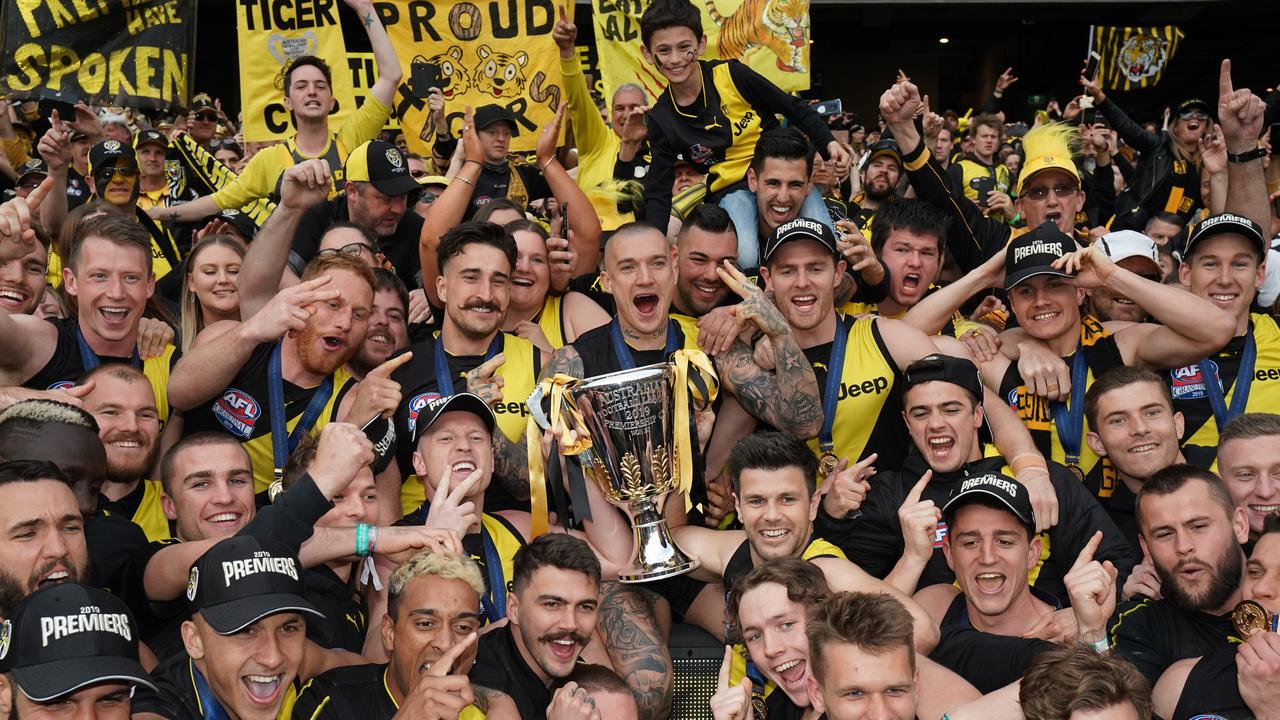 Richmond is trying to win its third premiership in four years. But will 2020 have an asterisk attached? (AAP Image/Michael Dodge)