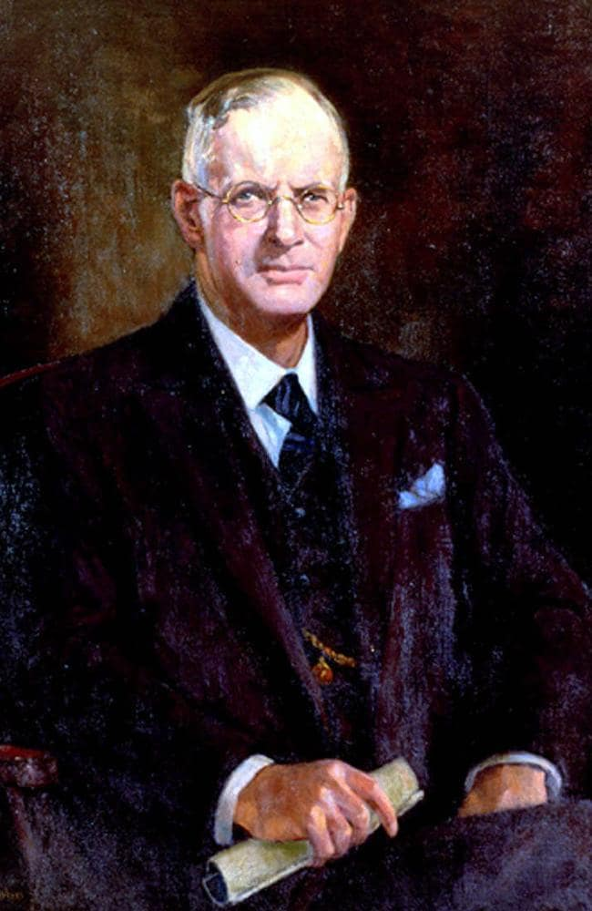 Wartime leader John Curtin portrait by Anthony Dattilo Rubbo.