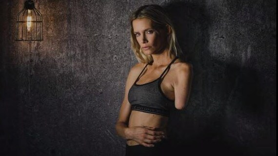 Stuntwoman Olivia Jackson lost her arm during a high-speed crash on the set of the Resident Evil 2. Picture: Neale James/YouTube