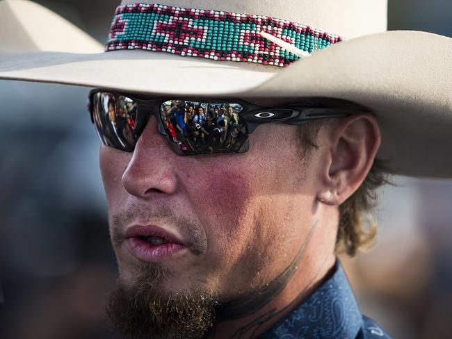 Johnnie Langendorff and another man chased down the gunman after he fled the church where he killed 26 people. Picture: Nick Wagner/Austin American-Statesman via AP