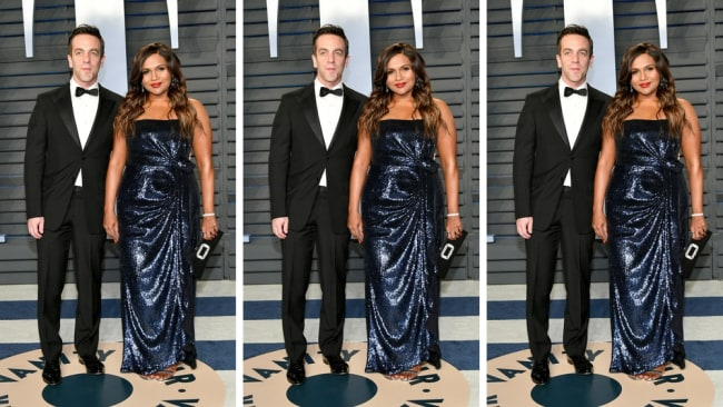 Mindy Kaling and BJ Novak at the Vanity Fair Oscars After Party. Photo: Getty