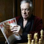 Hugh Hefner poses at the Playboy Mansion in Los Angeles on Thursday April 5,2007. Picture: AP