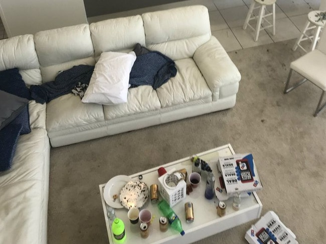 Drugs and alcohol were left strewn around the apartment. Picture: A Current Affair