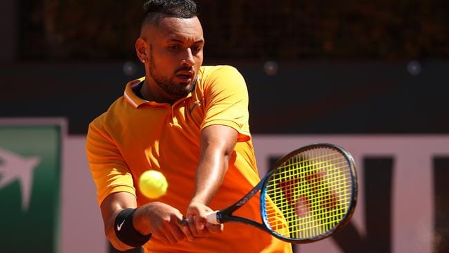 Nick Kyrgios faces Brit Cameron Norrie in the first round.