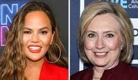 Chrissy Teigen and Hillary Clinton. Picture: Supplied.