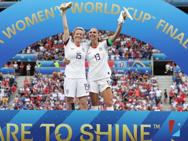 Megan Rapinoe and Alex Morgan were the stars of the World Cup.