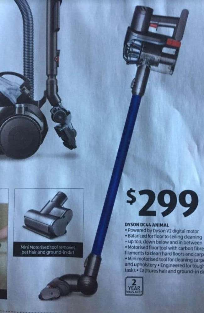 ALDI Australia to sell two Dyson Vacuum cleaners on its upcoming Special Buy. Picture: Supplied