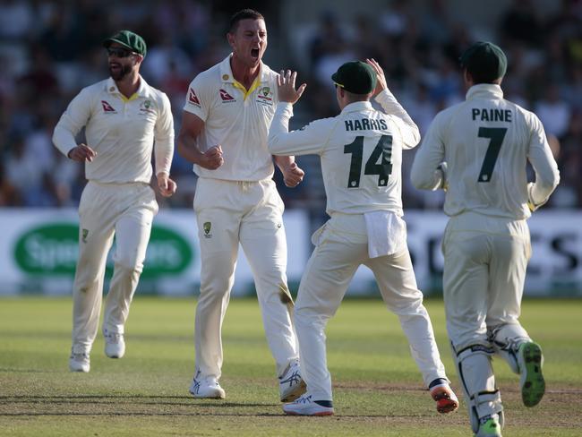 Hazlewood claimed the big wicket of Denly.
