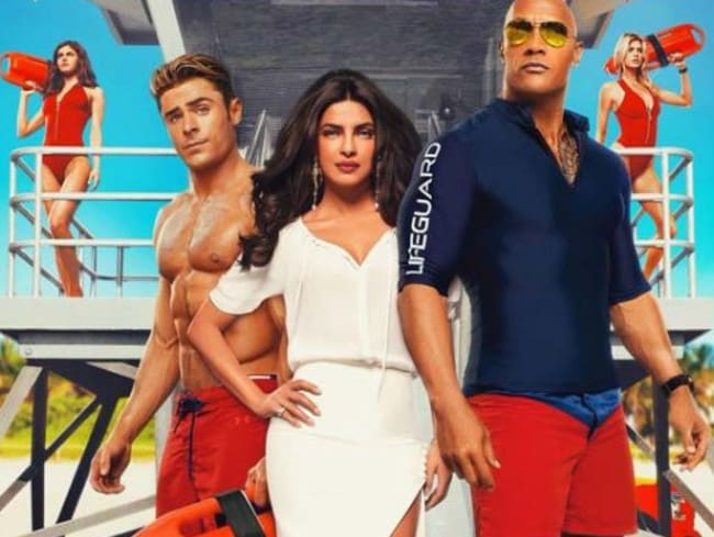 Priyanka Chopra starred alongside Zac Efron and The Rock in Baywatch. Picture: Supplied
