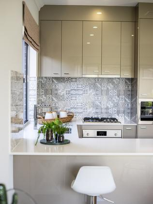 Sterling Homes' Macquarie Terrace 125 design, on display at Brookmont estate, Andrews Farm. Picture: Nick Clayton.