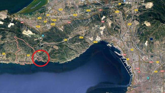French Wuhan evacuees are staying at a holiday resort close to Marseilles. Picture: Google Maps