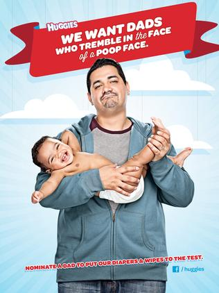 This Huggies ad roused ire among US parents. Picture: Supplied