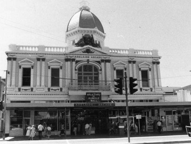 The Adelaide Arcade building is said to be haunted by the ghost of caretaker Francis Cluney who died in the most gruesome way.