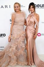 Petra Nemcova and Alessandra Ambrosio attend the 25th Annual Elton John AIDS Foundation's Academy Awards Viewing Party at The City of West Hollywood Park on February 26, 2017 in West Hollywood, California. Picture: Getty