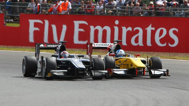 Evans forcefully held off Palmer to take the win.