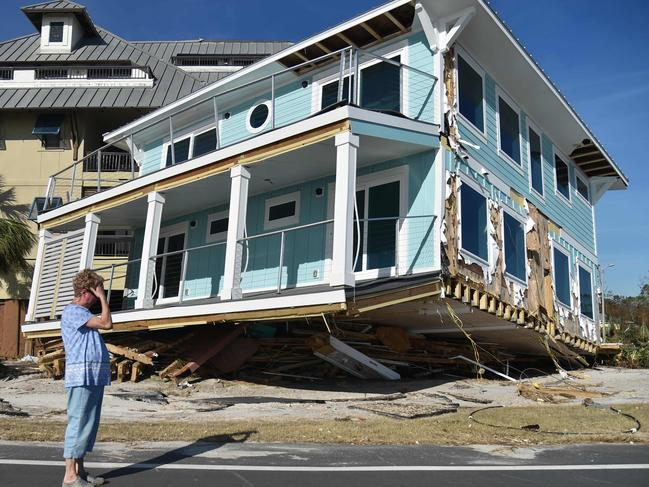 Damage caused by Hurricane Michael in Mexico Beach, Florida on October 12, 2018. Picture: AFP
