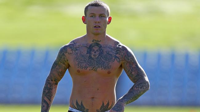 Todd Carney at training.