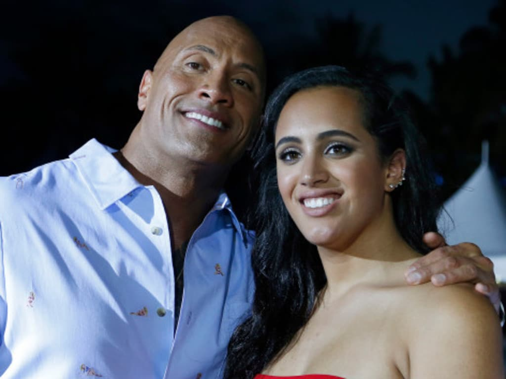 dwayne johnson and daughter simone