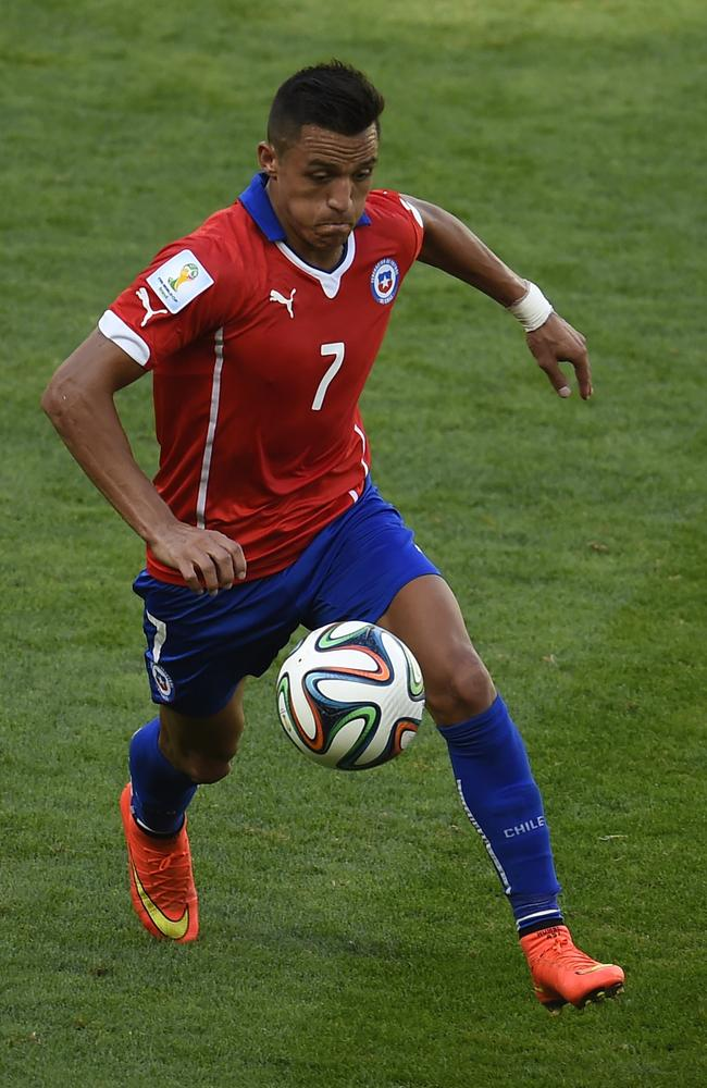 Powerhouse. Chile's forward Alexis Sanchez.