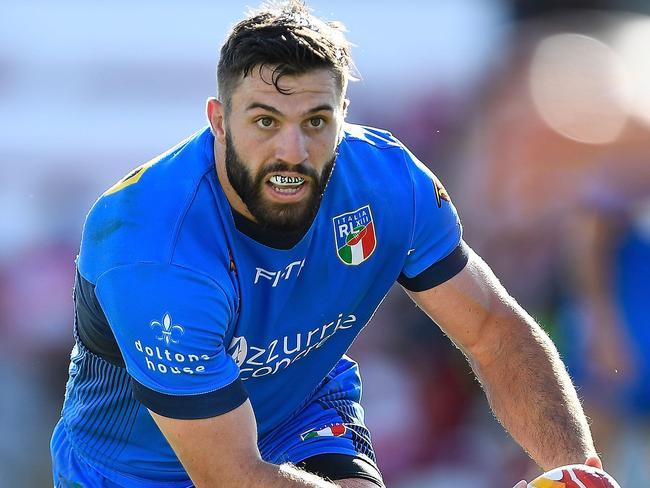 James Tedesco in action for Italy.