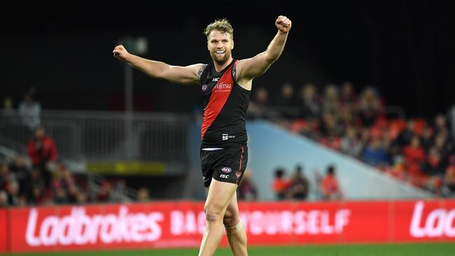 Jake Stringer has had a strong season for the Bombers. Photo: Dave Hunt/AAP Image.