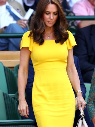 Kate Middleton wore a similar gown to her sister-in-law, Meghan Markle. Picture: Clive Brunskill/Getty Images