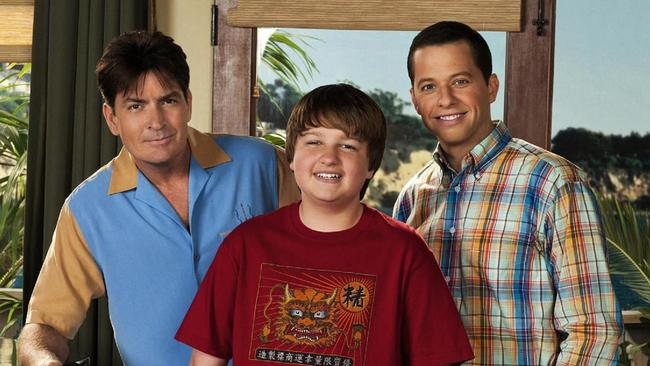 The original cast of Two and a Half Men.
