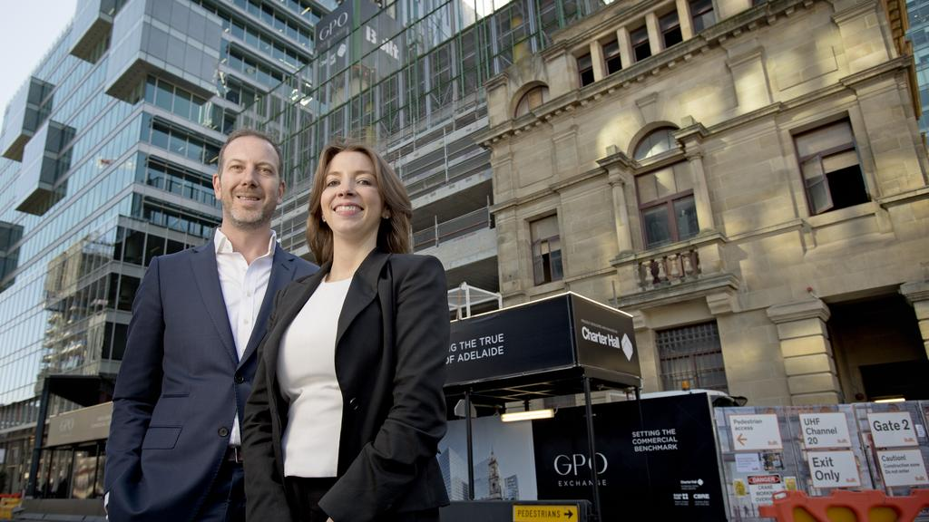 Charter Hall Regional Development Director Simon Stockfeld And State General Manager Kimberley Gillan At The GPO