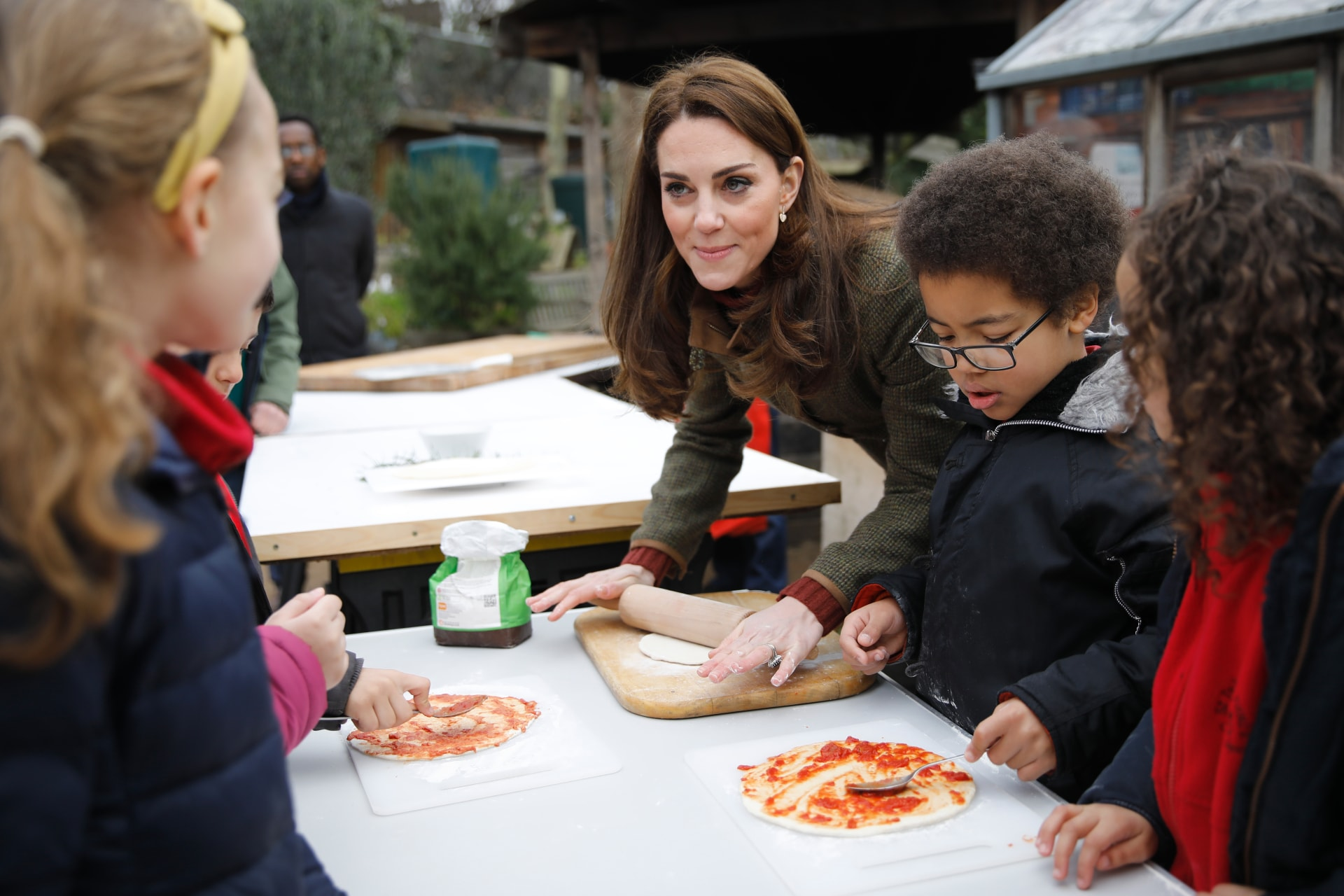 Kate Middleton answers the question of whether or not Queen Elizabeth eats pizza