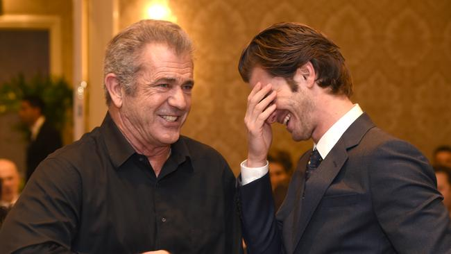 Mel Gibson and Andrew Garfield attend the 17th annual AFI Awards.