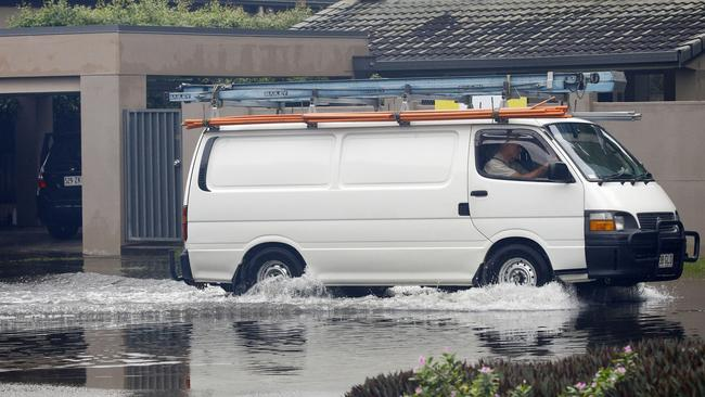 Yacht Street, in Southport on the Gold Coast, also flooded yesterday. Picture: Tertius Pickard