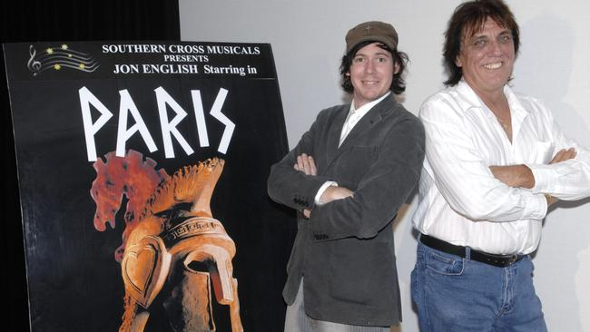 French connection: Director Stuart Smith and writer/performer Jon English plugging Paris.