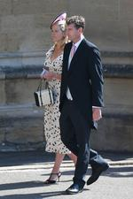 Lady Edwina Louise Grosvenor and Dan Snow arrive at St. George's Chapel.