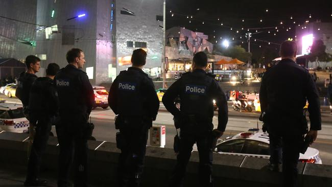 A Victoria Police spokeswoman said most are noq working from home because of concerns over potential contact.