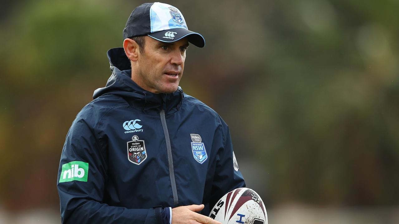 Brad Fittler at NSW training.