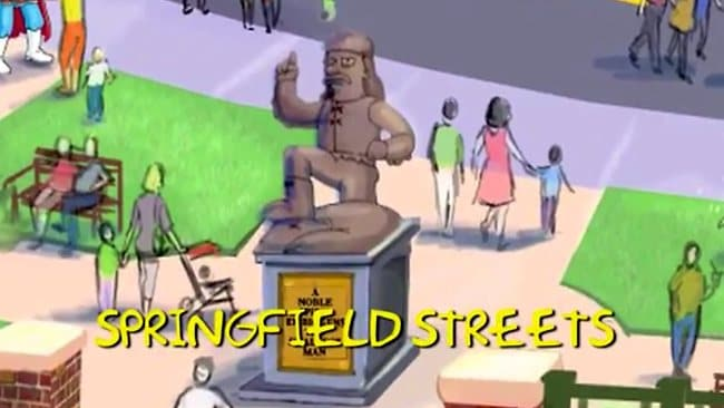 The streets of Springfield. Picture: Universal Orlando Resort