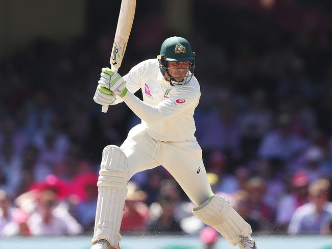 Australia's Usman Khawaja in action during day 3.
